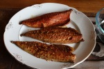 Marcus and I smoked Mackerel with Different Spices